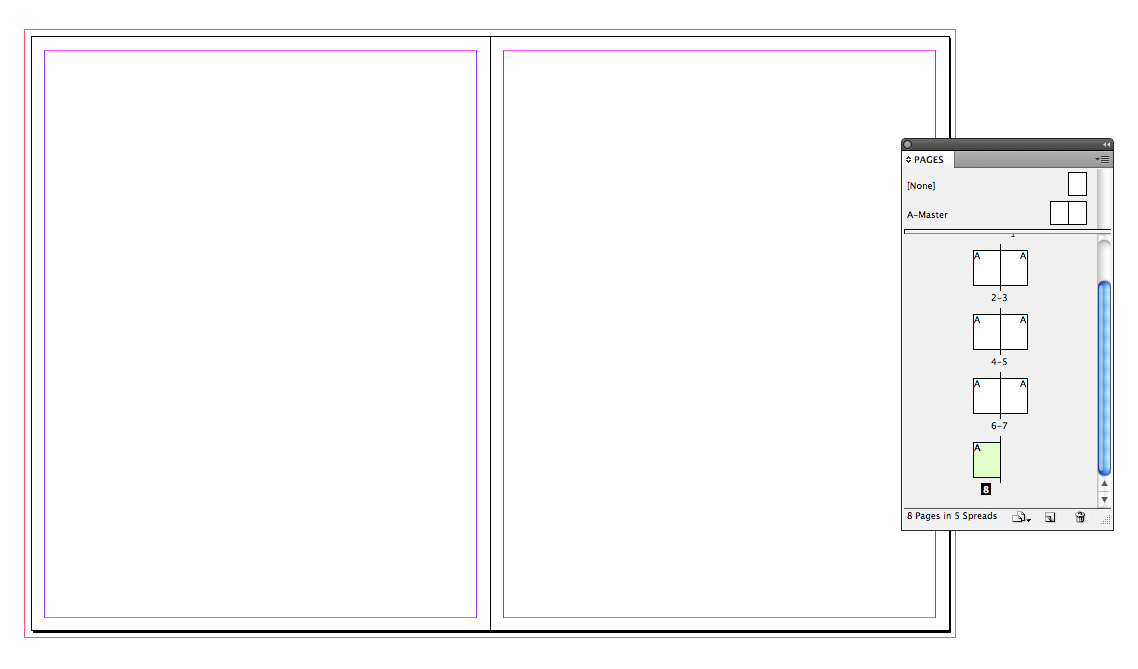 Indesign Layout Settings for Booklets